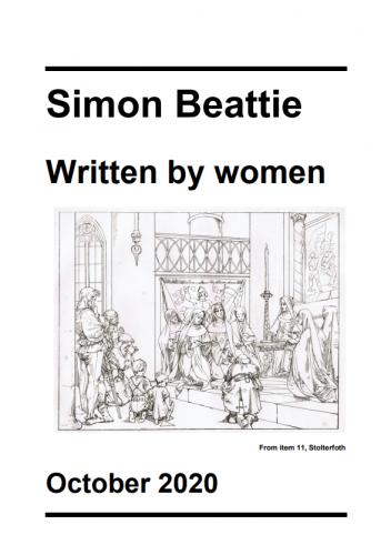 Simon Beattie, Written by Women