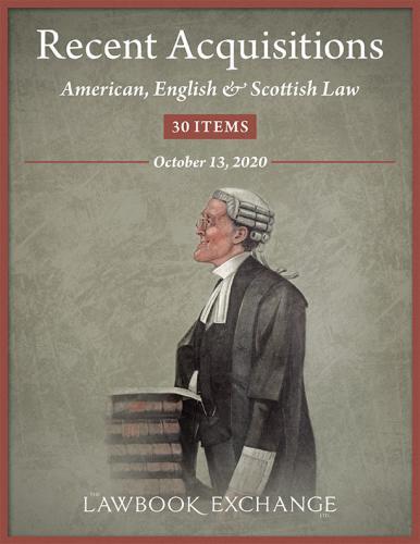 Lawbook Exchange - American, English and Scottish Law