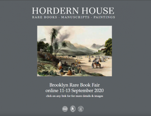 Hordern House - Brooklyn Rare Book Fair 2020
