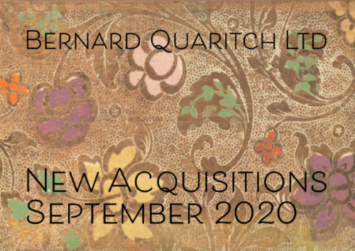 Quaritch Sept 2020
