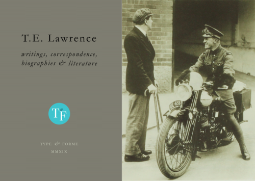T. E. Lawrence catalogue cover