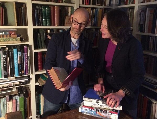 Frome Book Fair Organisers Karen Jakobsen and Peter Foster