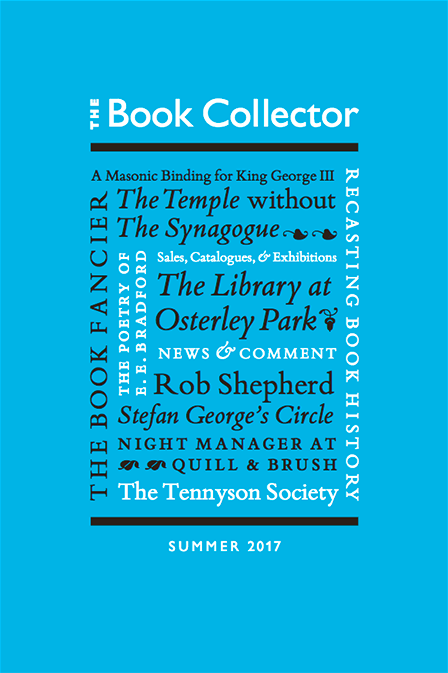 The Book Collector Summer 2017 Cover