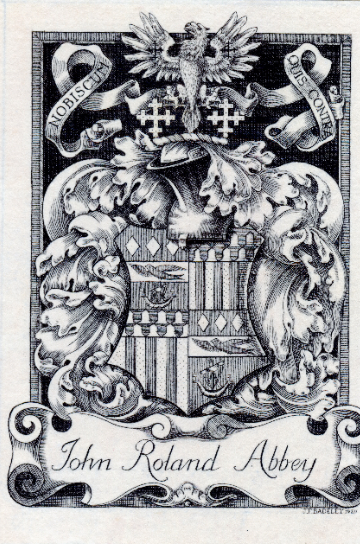 Major Abbey's 1920 Armorial Bookplate