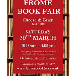 Frome Book Fair Sat March 30th 2019