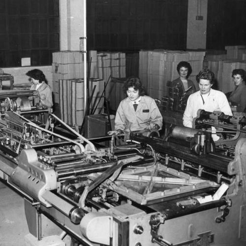 D. Smith and Sons, box makers, 97 Lea Bridge Road, 1959. Courtesy of Vestry House  Museum, London Borough of Waltham Forest