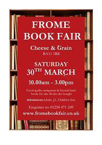 Frome Book Fair Sat March 30th 2019