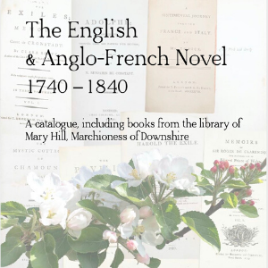 The English and Anglo-French Novel - Quaritch catalogue