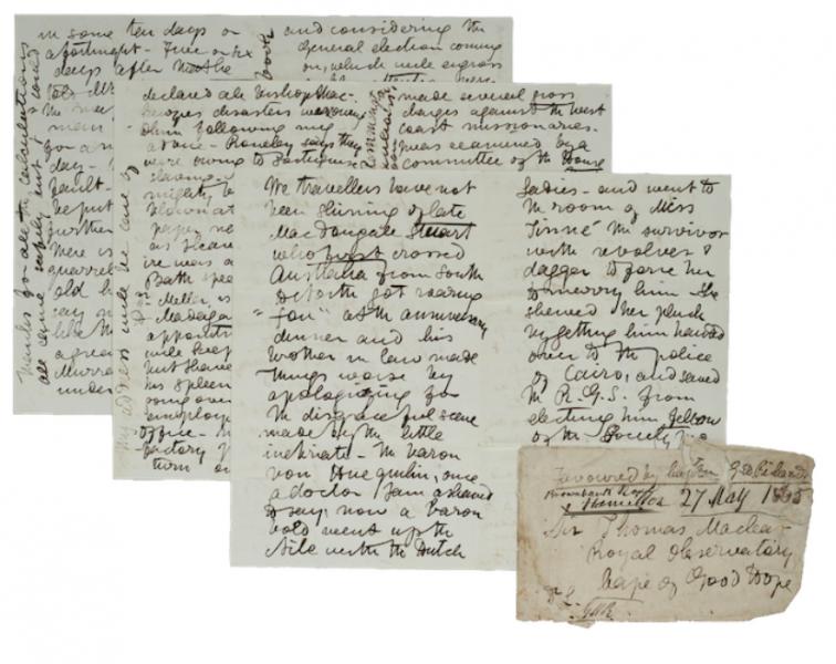 David Livingstone Letter, 1865
